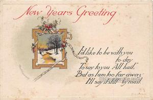 New Year, Ellen H Clapsaddle Writing on back yellowing stains from age