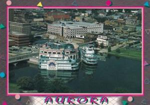 Illinois Aurora Fox River With Hollywood Casino's Riverboats