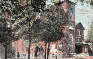 City Hall and Post Office Fredonia New York NY Divided Back Postcard