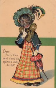 PFB; Dere! Enery Clay can't stand up against a smile like dat! 1900-10s Embossed