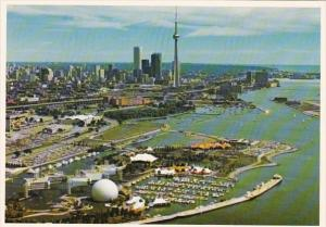 Canada Toronto Looking East With Ontario Place In The Foreground