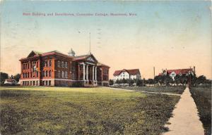 Moorhead Minnesota~Concordia College~Main Building & Dormitories~1910 Postcard
