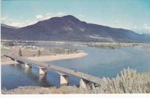 Aerial View, North And South Thompson River, Overlanders Bridge, KAMLOOPS, Br...
