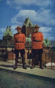 Quebec Royal Canadian Mounted Police Old Vintage Antique Postcard Post Card  ...