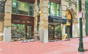 Commonwealth Books Boston Massachusetts Bookstore Painting Postcard