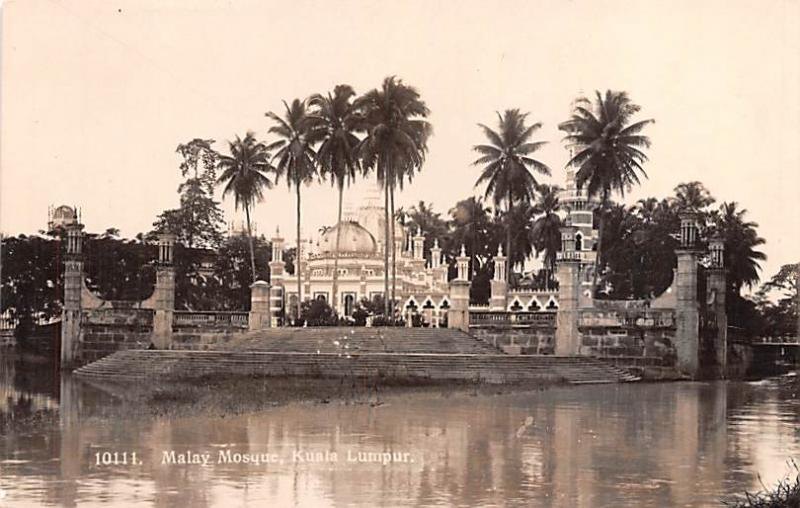Malaysia Old Vintage Antique Post Card Malay Mosque Kuala Lumpur Real Photo, ...