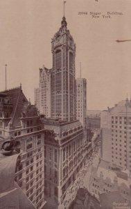 NEW YORK CITY, New York, 1900-10s; Singer Building
