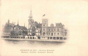 US3190 France Exposition 1900 Pavillons Etrangers, Belgium Norway germany paris