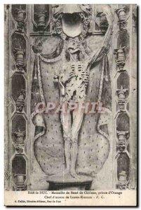 Postcard Old Bar Rene Duc Mausoleum of Chalons Prince of Orange Leader ceuvre...