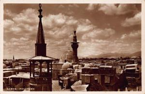Syria Damas Panorama Towers General view real photo Postcard