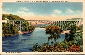 Massachusetts Greenfield French King Bridge Over Connecticut River 1936 Curteich