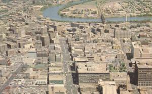 WINNIPEG, Manitoba, Canada, 1940-1960's; Aerial View of Downtown Winnipeg