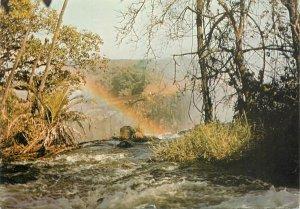 1970s Postcard Zambia rainbow natural landscape railway postal stamp