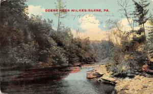 Wilkes-Barre Pennsylvania~Susquehanna River Banks~Rocky Ledge~1912 Postcard