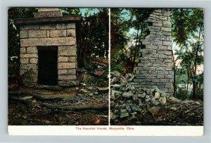 Marysville OH-Ohio, The Haunted House Vintage Postcard