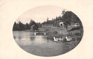 Townsend Massachusetts Lowell Lake Real Photo Antique Postcard J74678