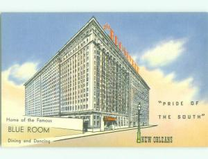 Unused Linen ROOSEVELT HOTEL New Orleans Louisiana LA hr7556-14