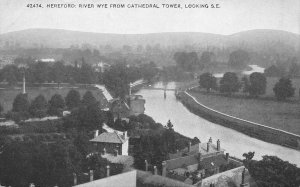 HEREFORD HEREFORDSHIRE ENGLAND~RIVER WYE FROM CATHEDRAL LOOKING S.E. POSTCARD