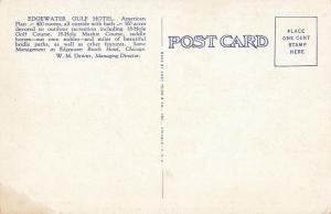 Postcard Edgewater Gulf Hotel Edgewater Park Mississippi