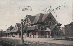 MUNCIE , Indiana , 1908 ; Railroad Train Depot