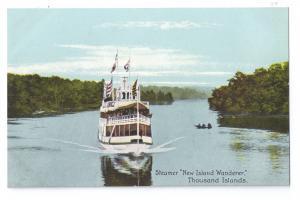 NY Thousand Islands New Island Wanderer Steamer Alexandria Bay Postcard ca 1910