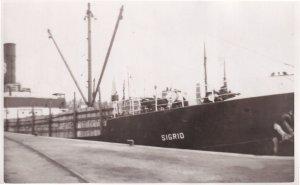 MV Sigrid Nuclear Waste Fuel Carrier Swedish Cargo Ship RPC Postcard