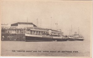 SOUTHEND , UK , 00-10s ; Steamers CRESTED EAGLE & Royal Eagle at pier