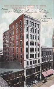 Rhode Island Providence Lapham Building Home Of Childs Business College