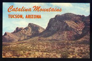 Majestic Tucson, Arizona/AZ Postcard, Catalina Mountains