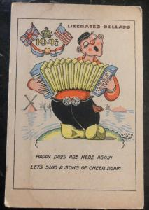 Mint Netherlands Picture Postcard Holland Liberation Happy Days Are Here Again