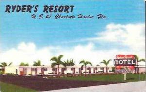 FL Charlotte Harbor Ryders Resort Motel 1956