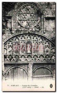 Old Postcard Morlaix Fontaine des Carmelites