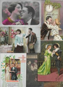 Romantic Couple Postcard Lot of 20 With  Litho and RPPC 01.07