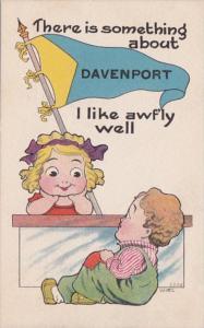 Iowa Davenport There Is Something I Like 1914 Pennant Series