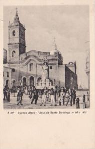 Argentine Buenos Aires Vista de Santo Domingo Circa 1832
