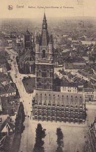 Belgium Gent Gand Beffroi Eglise Saint Nicolas et Panorama 1925