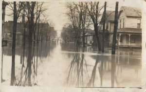 RP: MARION , Indiana , 1913 ; Flooded Street