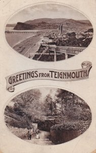 Greetings from TEIGNMOUTH, England, UK, PU-1916; Teignmouth from East Cliff &...