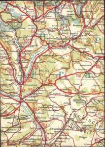 germany, COBURG BAMBERG, Bavaria, MAP Postcard (1940s)