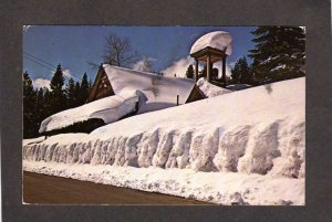 CA Winter Scene Snow Johnsville California Postcard