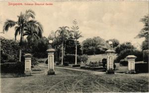 CPA AK SINGAPORE Entrance Botanical Garden (a1482)