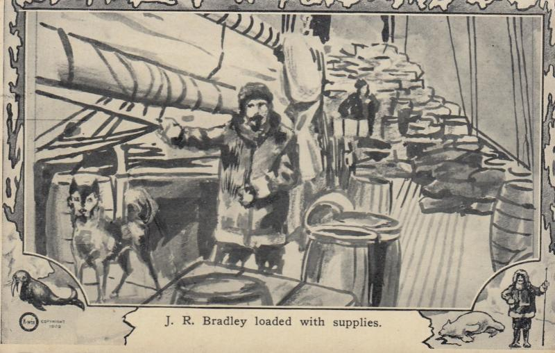 NORTH POLE, 1900-10s; J. R. Bradley loaded with supplies