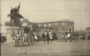 Oakland Written on Back - CA? 1910 Labor Day Parade WAITRESSES UNION rppc dcn