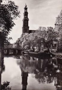 Netherlands Amsterdam Prinsengracht Met Westertoren