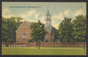 Virginia, Williamsburg - Bruton Parish Church - [VA-270]