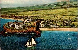 Maui HI Kaanapali Beach Sheraton-Maui Postcard used 1966