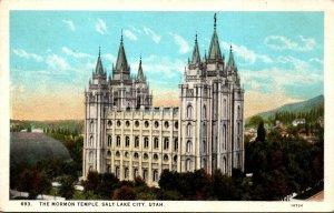 Utah Salt Lake City The Mormon Temple Curteich