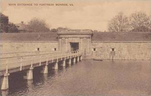 virginia Fortress Monroe Main Entrance Albertype