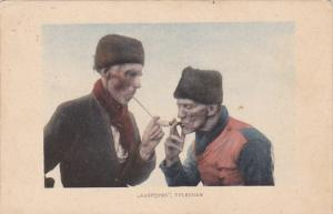 Netherlands Volendam Men Smoking Pipe