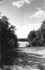 Brainerd MN~Kahler's Sherwood Forest Lodge @ Gull Lake~Sandy Path~1940s RPPC